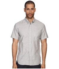 Billy Reid Short Sleeve Tuscumbia Button Up Shirt Fog Men's Short Sleeve Button Up Gray