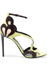 Nicholas Kirkwood Patent And Matte Leather Sandals Yellow
