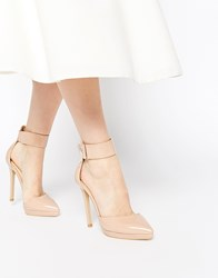 Ax Paris Darcy Ankle Strap Heeled Shoes Beige