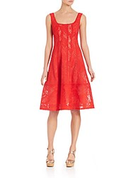 Nanette Lepore Starry Night A Line Dress Poppy