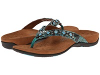 Vionic With Orthaheel Technology Floriana Teal Snake Women's Sandals Blue