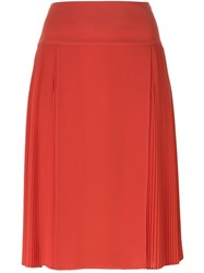 Just Cavalli Pleated Midi Skirt Red