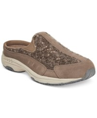 Easy Spirit Traveltime Sneakers Women's Shoes Dark Taupe