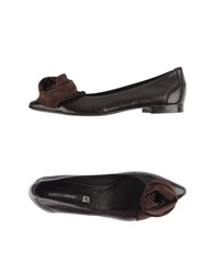 Alberto Fermani Ballet Flats Dark Brown