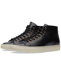 Buttero Tanino Mid Leather Sneaker Black