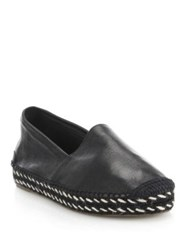 Rag And Bone Noa Leather Espadrille Flats Walnut Black