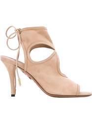 Aquazzura 'Sexy Thing' Boot Style Sandals Nude And Neutrals