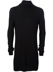 Julius Lightweight Roll Neck Sweater Black