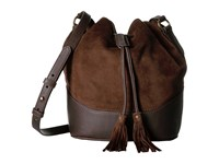 Frye Paige Drawstring Dark Brown Drawstring Handbags