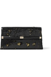 Diane Von Furstenberg 440 Envelope Sequined Clutch Black