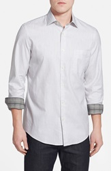 John W. Nordstrom Nordstrom Regular Fit Sport Shirt White Heather