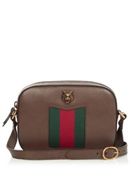 Gucci Animalier Grained Leather Cross Body Bag Brown