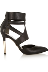 Pour La Victoire Zanie Leather Pumps Black