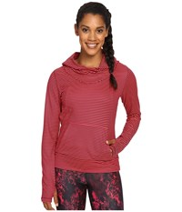 Lole Esma Hoodie Reflector Pink Stripe Women's Sweatshirt Red