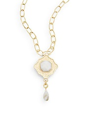 Stephanie Kantis Ventana Mother Of Pearl And 24K Yellow Gold Pendant