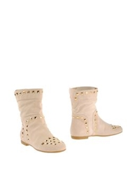 Vicini Tapeet Ankle Boots Beige