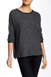 Fate Eyelet Sweater Gray