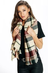 Lily Checked Oversize Blanket Scarf