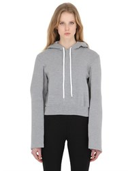 Y Project Hooded Cropped Cotton Jersey Sweatshirt