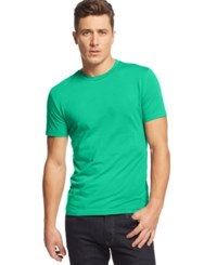 Alfani Big And Tall Solid Stretch Crew Neck T Shirt Sea Wave