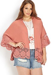 Forever 21 Plus Size Mysterious Moment Crochet Cardigan