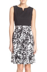 Women's Ellen Tracy Cotton Fit And Flare Dress