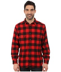 Woolrich Oxbow Bend Flannel Shirt Old Red Buffalo Men's Clothing