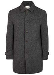 Oliver Spencer Grandpa's Charcoal Wool Coat Grey