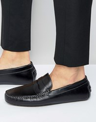 Aldo Gwiralian Leather Penny Loafer Driver Shoes Black