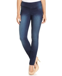 Style And Co. Curvy Fit Pull On Jeggings Rinse Wash