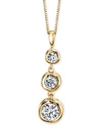 Sirena Diamond Three Stone Pendant Necklace 1 4 Ct. T.W. In 14K Yellow Or White Gold Yellow Gold