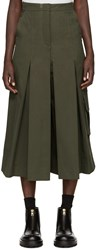 Each X Other Green Military Pleated Culottes