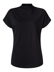 Jigsaw Turtleneck Cap Sleeve Tee Black