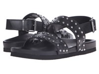 Just Cavalli Studded Leather Sandal Black