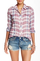 3J Workshop Embroidered Plaid Blouse Multi