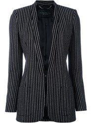 Barbara Bui Dashed Lines Blazer Black