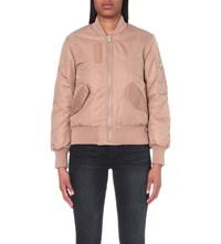 Whistles Carter Reversible Quilted Shell Bomber Jacket Nude