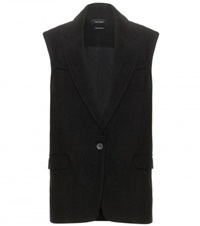Isabel Marant Heko Boucle Linen And Wool Vest Black