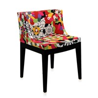 Kartell Mademoiselle 'A La Mode' Black Chair Vevey Red Tones