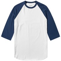 Nonnative Dweller Baseball Tee Blue