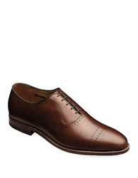 Allen Edmonds Vernon Perforated Leather Oxfords Saddle