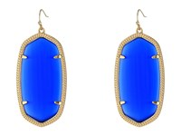 Kendra Scott Danielle Earrings Gold Cobalt Cats Eye Earring Blue