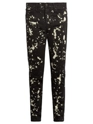Etudes Locomotion Bleached Skinny Jeans Black Multi