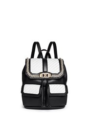 Rebecca Minkoff 'Love' Woven Flap Leather Backpack Multi Colour