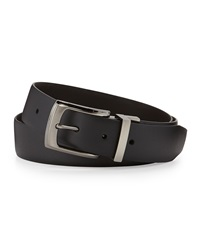 English Laundry Reversible Matte Leather Belt Black Brown