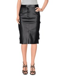 Muveil Skirts Knee Length Skirts Women Black