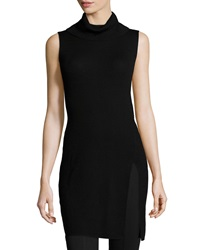 Bcbgmaxazria Sleeveless Turtleneck Tunic Black