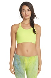 Hard Tail Double Cross Sports Bra Limeade
