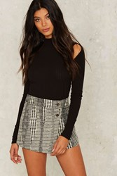 Ain't Nothin' But A Houndstooth Skirt Black