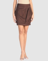 Miss Sixty Knee Length Skirts Brown
